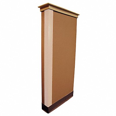 Corner Guard PVC Plastic 48 Height 3 Width 0.095 Thickness Almond