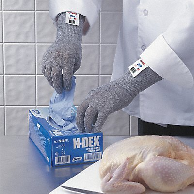 Uncoated Cut Resistant Glove ANSI/ISEA Cut Level 4 HPPE Lining Gray XL EA 1