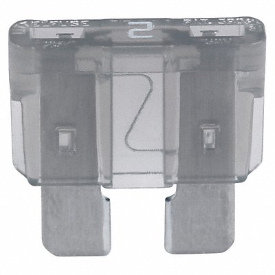 2A Fast Acting Nonindicating Plastic Fuse with 32VDC Voltage Rating ATC Series Gray  |  Box of 5