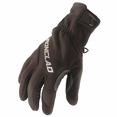 Cold Protection Gloves Micro Fleece Lining Safety Cuff Black/Black S PR 1