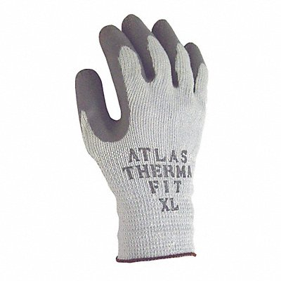 10 Gauge Crinkled Natural Rubber Latex Coated Gloves Glove Size XL Gray