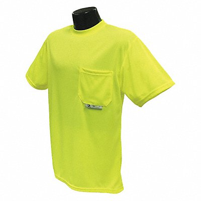 Hi-Visibility Green Polyester Short Sleeve T-Shirt Size L ANSI Class Unrated