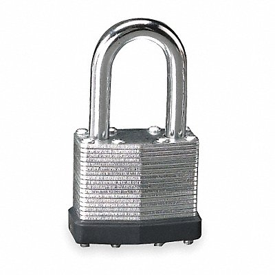 Different-Keyed Padlock Open Shackle Type 1-1/2 Shackle Height Silver