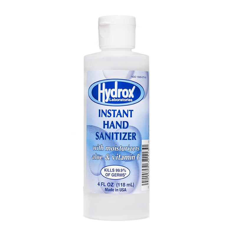 Hydrox Laboratories Gel Hand Sanitizer, 4 Oz Bottle (case Of 60 Bottles)