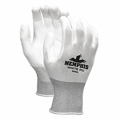 13 Gauge Flat Polyurethane Coated Gloves Glove Size L White