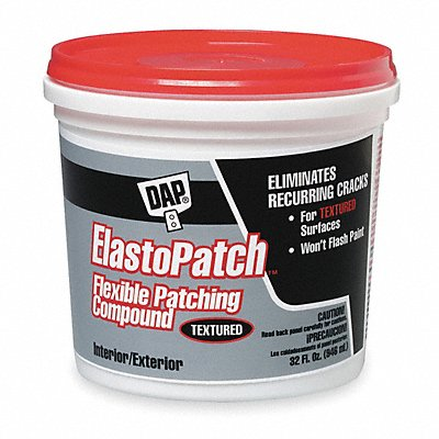 Textured Flexible Patching Compound 1 qt. Size Off White Color Container Type Pail