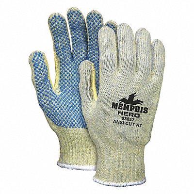 PVC Cut Resistant Gloves ANSI/ISEA Cut Level A7 Lining Multi L PR 1