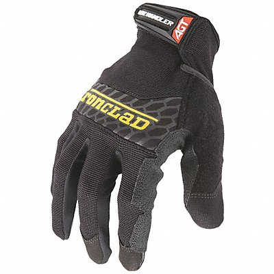Box Handling Mechanics Gloves Silicone Printed Synthetic Leather Palm Material Black M PR 1