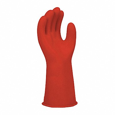 Red Rubber Insulating Gloves Class 0 Low Volt 14 Inch 1000 Vac / Size Size 10
