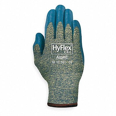 Nitrile Cut Resistant Gloves ANSI/ISEA Cut Level A5 Kevlar? Lining Gray Green S PR 1