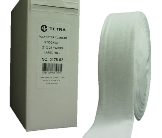 """Tetra Synthetic Stockinet, 2"""", 3"""", 4"""" or 6"""" Sold Individually in 25 Yard Rolls"""