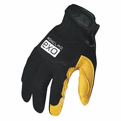 General Utility Mechanics Gloves Genuine Deerskin Leather Palm Material Black/Gold M PR 1