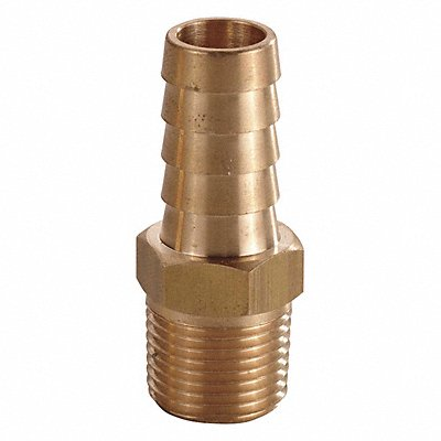 Brass Hose Barb with Straight Fitting Style 3/8 Thread Size