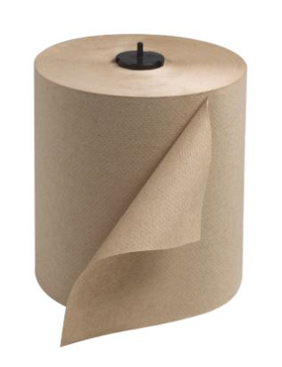 Tork 290088 Natural Kraft 1-PLY, 8x700' Hand Roll Towel for H1 System, 6/Case