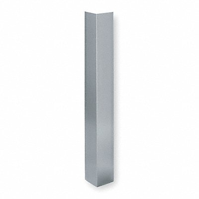 Corner Guard Stainless Steel 48 Height 3 Width 0.050 Thickness Silver