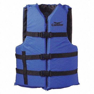 Standard Life Jacket USCG Type III Foam Flotation Material Size Adult Oversize