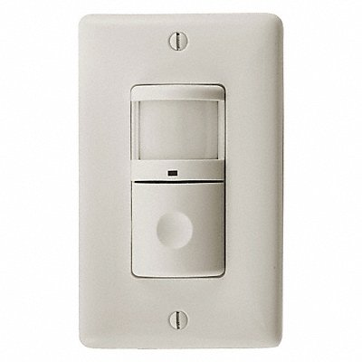 Wall Switch Box Hard Wired Motion Sensor 1200 sq. ft Passive Infrared Light Almond