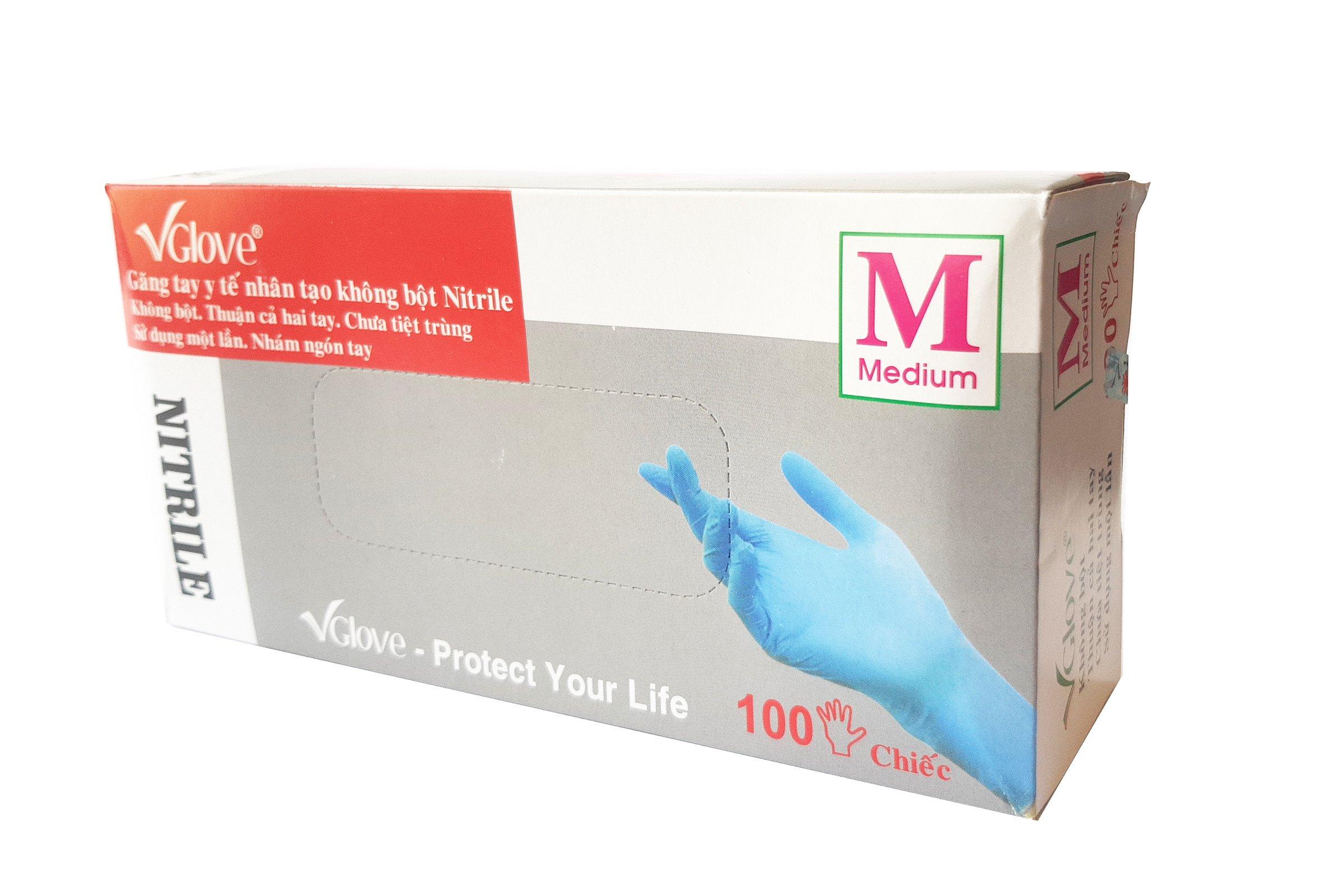 Nitrile Examination Gloves - Size Med - 1000 Pack - Medical Grade