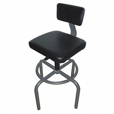 Task Stool with 27-1/4 to 31-7/8 Seat Height Range and 250 lb Weight Capacity Gray