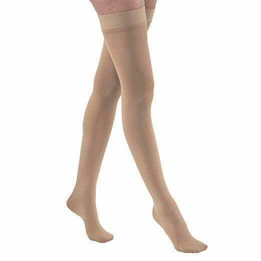 JOBST Relief Compression Stockings Thigh High 20-30 mmHg W/ Silicone Band, Beige
