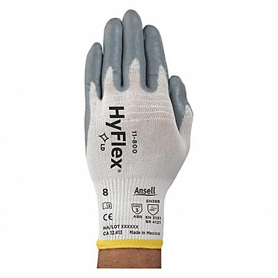 15 Gauge Foam Nitrile Coated Gloves Glove Size XS Gray/White