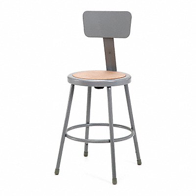 Round Stool and 300 lb Weight Capacity Gray