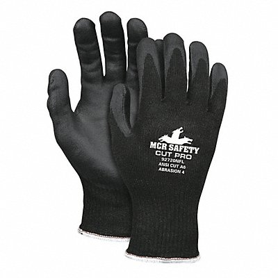 Nitrile Cut Resistant Gloves ANSI/ISEA Cut Level A6 HPPE Stainless Steel Lining Black S PR 1