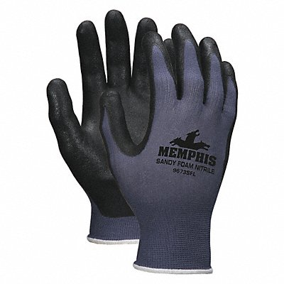 13 Gauge Sandy Nitrile Coated Gloves Glove Size XS Black Gray
