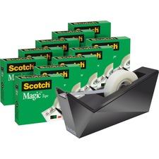 "Scotch Magic Tape Value Pack,3/4X1000"", With Dispener , MMM810K10C17B, Pack of 10"