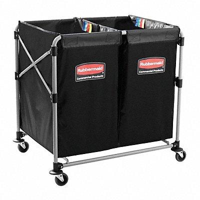 Black Vinyl Sorting Collapsible Basket X-Cart 10.0 cu ft. 220 lb. 35-3/4 L X 24 W X 34 H