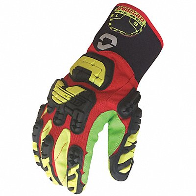 Impact Resistant Gloves Cotton Polyester Palm Material Red 1 PR