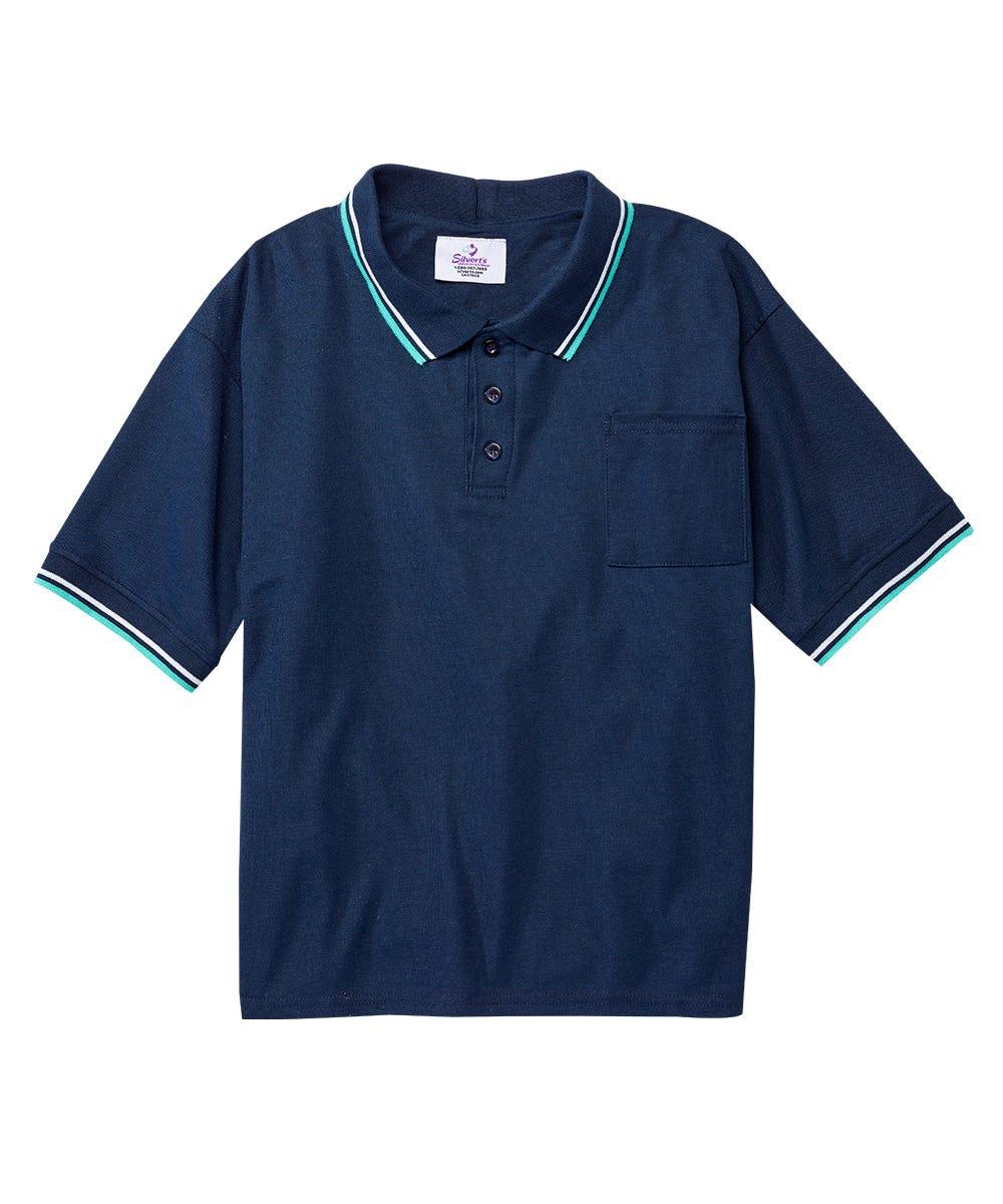 Mens Adaptive Polo Shirt Tops
