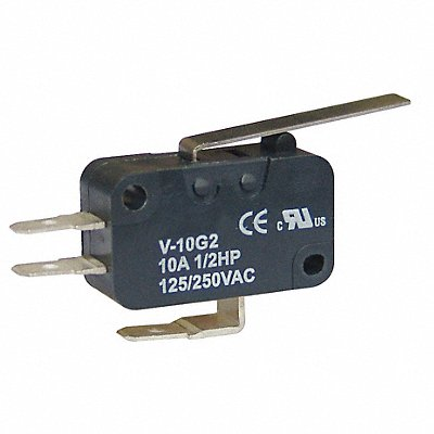 10A @ 240V Hinge Lever Miniature Snap Action Switch Series V