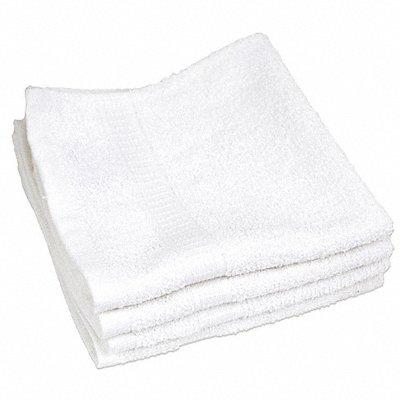 13 x 13 100 Cotton Wash Cloth White PK12
