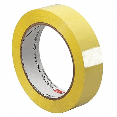 Polyester Electrical Tape Acrylic Tape Adhesive 1.00 mil Thick 1/4 X 72 yd. Yellow 1 EA