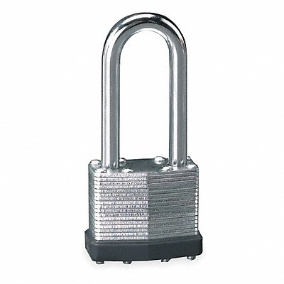 Different-Keyed Padlock Extended Shackle Type 2 Shackle Height Silver
