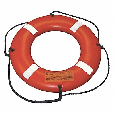 Survival Ring Buoy 24 Dia Orange