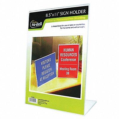 Sign Holder Freestanding 8-1/2x11Acrylic