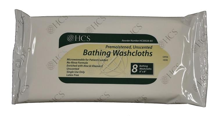 Bathing Washcloth No Rinse Unscented (case Of 240) HCS0028-U