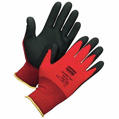 15 Gauge Foam PVC Coated Gloves Glove Size S Red/Black