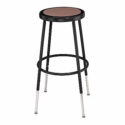Round Stool with 25 to 33 Seat Height Range and 300 lb Weight Capacity Black