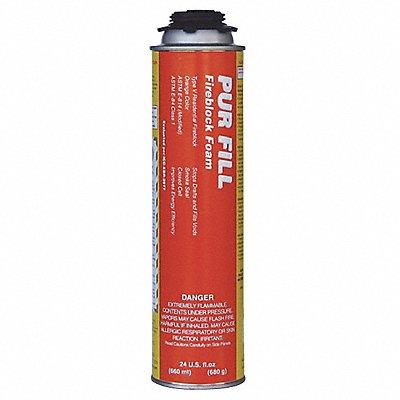Fire Barrier Insulating Spray Foam Sealant 24 oz Aerosol Can Orange