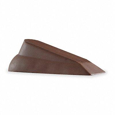 Door Wedge Rubber Brown 5-1/8 Length 1-1/2 Height 2 Width