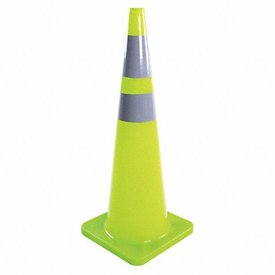 Traffic Cone 36 Cone Height Fluorescent Lime PVC