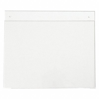 Sign Holder Wall 12x9 Acrylic Clear