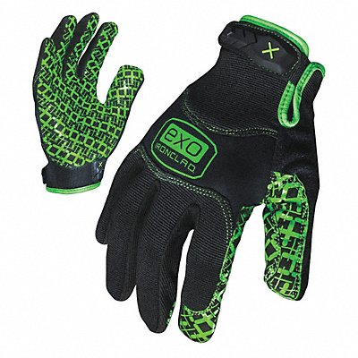 General Utility Grip Gloves Diamondclad Silicone Synthetic Leather Palm Material Black M PR 1