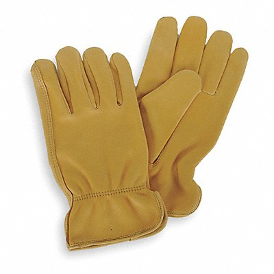 Deerskin Drivers Gloves Shirred Wrist Cuff Gold Size XL Left and Right Hand