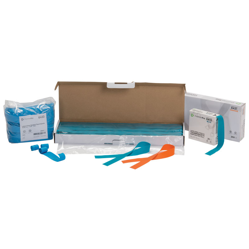 "Premierpro Enhanced Elasticity Blue Perforated Roll - Latex Free - 1"" X 18"""