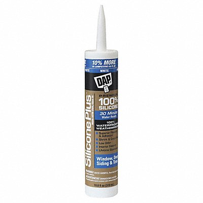 White Window and Door Sealant Silicone 10.8 oz Cartridge