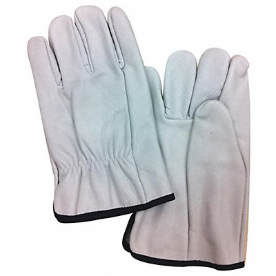 Electrical Glove Protector White Cowhide Leather 10 Length
